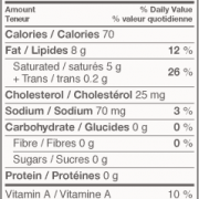 Neilson Butter Salted Nutritional Information