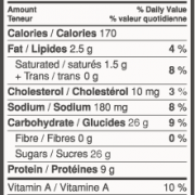 Neilson Chocolate Milk Nutritional Info